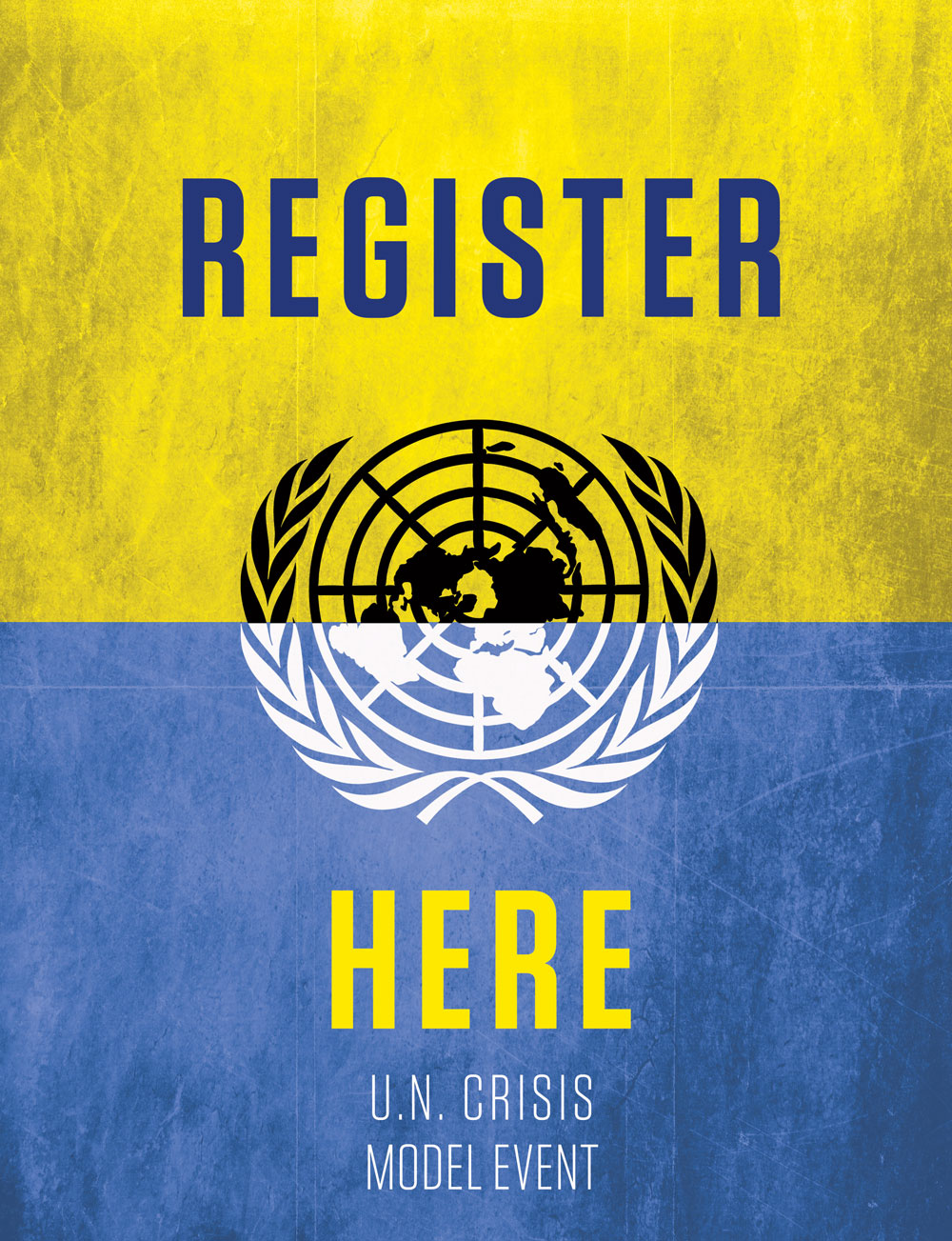 UN Crisis poster for UND