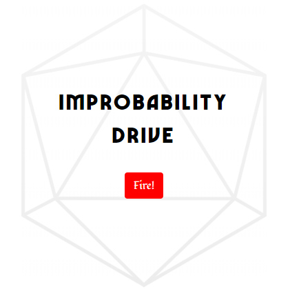 My jQuery based D&D tool for rolling wild magic surges